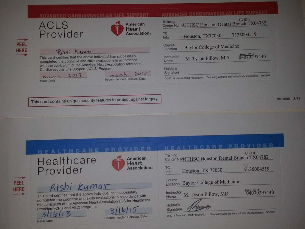 bls acls certified rk md
